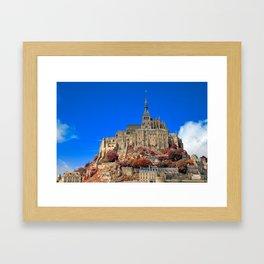 Autumn Shades of Mont Saint-Michel Framed Art Print