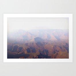Smoky Hazy Days in the Grand Canyon Art Print