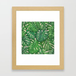 ROSE QUARTZ MONSTERA, by Frank-Joseph Framed Art Print