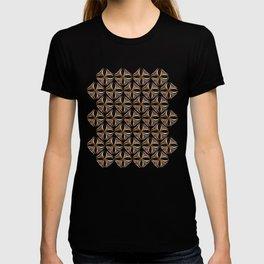 Rose Gold Watercolor Tile T-shirt