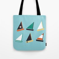 boats Tote Bags featuring Boats by CaptainChrisP