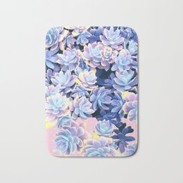 Cactus Fall - Blue and Pink Bath Mat