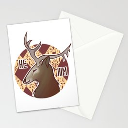 He/Him Père-David's Deer Stationery Cards