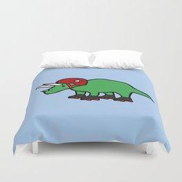 Roller Derby Triceratops Duvet Cover