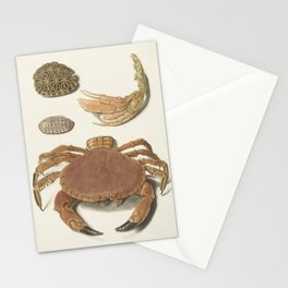 Vintage Crab Illustration Stationery Cards