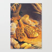 bread Canvas Prints featuring Bread by Richard McGee