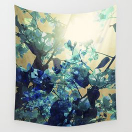 Sunny Blue Wall Tapestry