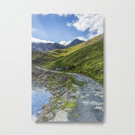 Path To Snowdon Metal Print