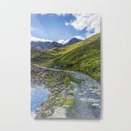 Path To Snowdon Metal Print