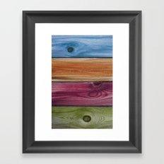 Wooden Rainbow Framed Art Print