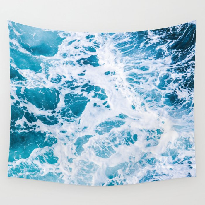 Perfect Ocean Sea Waves Wall Tapestry