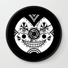 Priest Circle- black on black Wall Clock