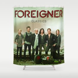 new foreigner classics Shower Curtain