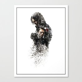 Winter Soldier Sebastian Stan Digital Fan Art Ink-Blot Canvas Print