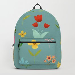 TINY LITTLE COLORFUL FLOWER PATTERN Backpack