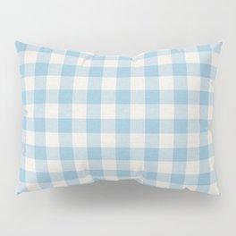 Modern 80s white pastel blue picnic print pattern Pillow Sham