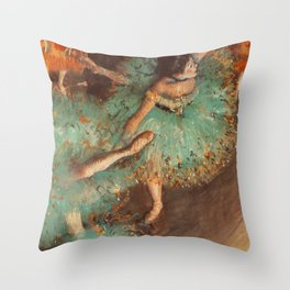 The Green Dancer 1879 By Edgar Degas | Reproduction | Famous French Painter Throw Pillow