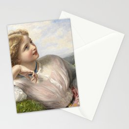 The Song Of The Lark 1903 By Sophie Gengembre Anderson   Reproduction Stationery Cards
