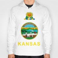 kansas Hoodies featuring KANSAS by changsaw