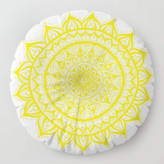 Sunflower-Yellow Floor Pillow