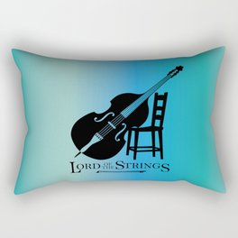Double Bass Lord of the Strings Blue & Aqua Rectangular Pillow