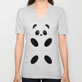 Cute Simple Panda Unisex V-Neck
