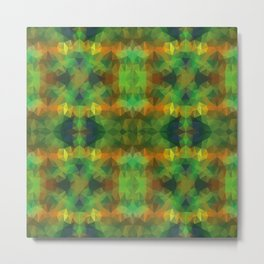 Triangles design in green colors Metal Print