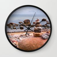 geology Wall Clocks featuring At the beach by UtArt