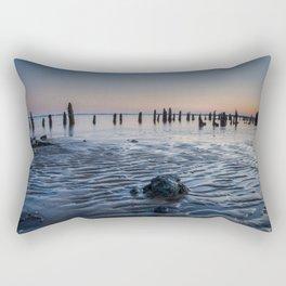 Low Tide and Sunset At Battery Coastal Landscape Photograph Rectangular Pillow