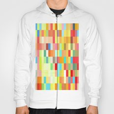 colorful rectangle grid Hoody