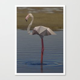 Geometric Flamingo Canvas Print