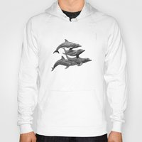 dolphins Hoodies featuring Dolphins by Beckyliv
