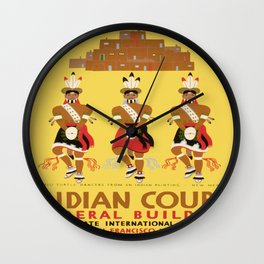 Vintage poster - Indian Court Federal Building Wall Clock