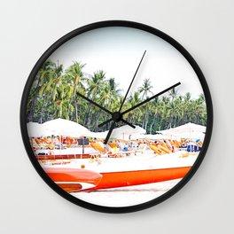 Mauna Kea Outriggers Wall Clock