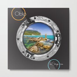 Oblo by be Strega | Conero Metal Print