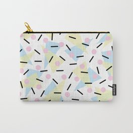 Funky Memphis Confetti Party Pattern Blue Pink Yellow Carry-All Pouch