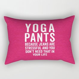 Yoga Pants Stressful Funny Quote Rectangular Pillow