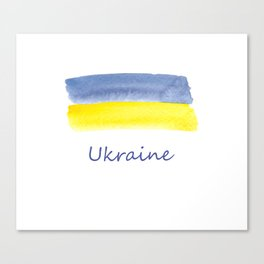 ukraine flag stripes Canvas Print