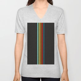 Einherjar - Multicolor Stripes Unisex V-Neck