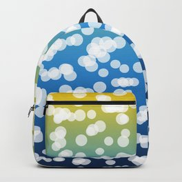 Blue & Yellow: Blurry Lights Backpack