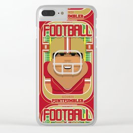 American Football Red and Gold - Enzone Puntfumbler - Seba version Clear iPhone Case