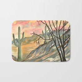 Southwestern Art Desert Painting Bath Mat