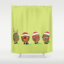 Ready for Xmas Shower Curtain