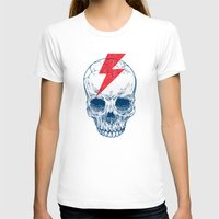 surf T-shirts featuring Skull Bolt by Rachel Caldwell