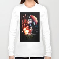 starwars Long Sleeve T-shirts featuring StarWars / DoctorWho by thedrunknown
