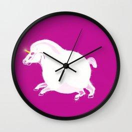 Fat Unicorn Wall Clock