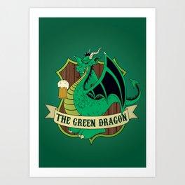 The Green Dragon Pub Art Print