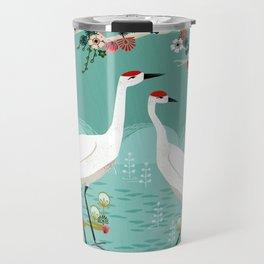 Cranes by Andrea Lauren Travel Mug