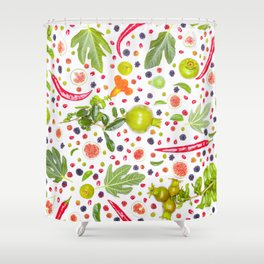 Fruits and vegetables pattern (7) Shower Curtain