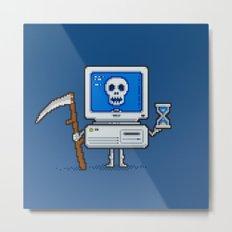 Blue Screen of Death Metal Print